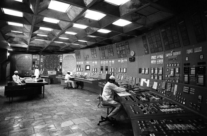 Chernobyl power plant control room