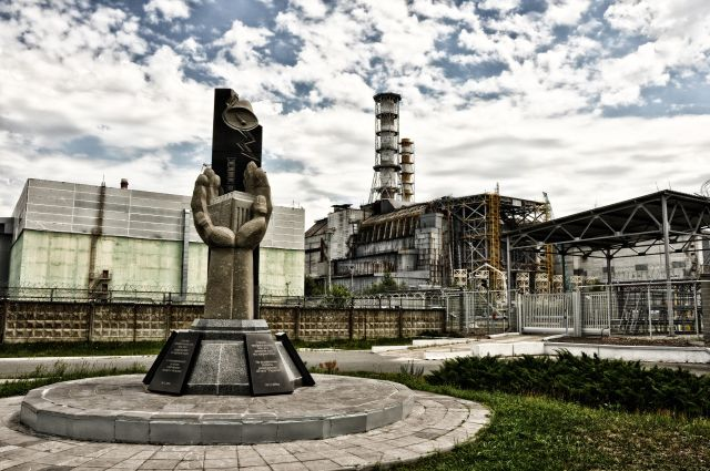 Chernobyl nuclear power plant reactor - core