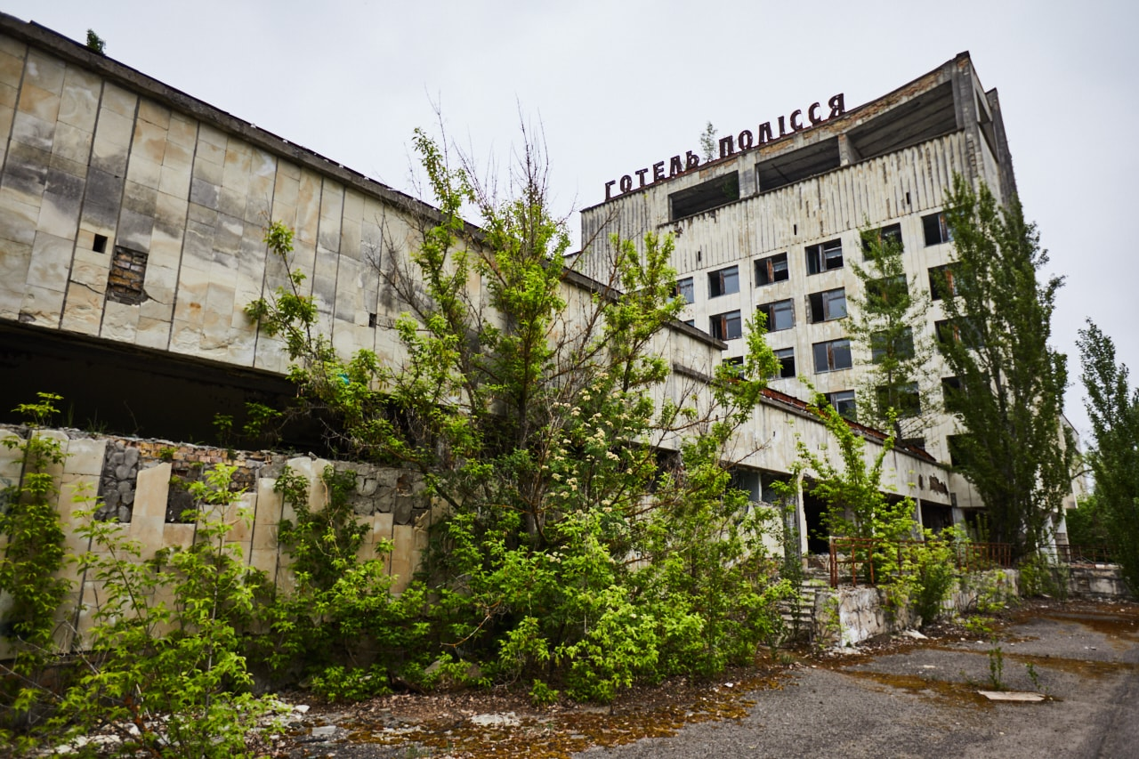 Hotel Polissya Chernobyl photo Pripyat town now