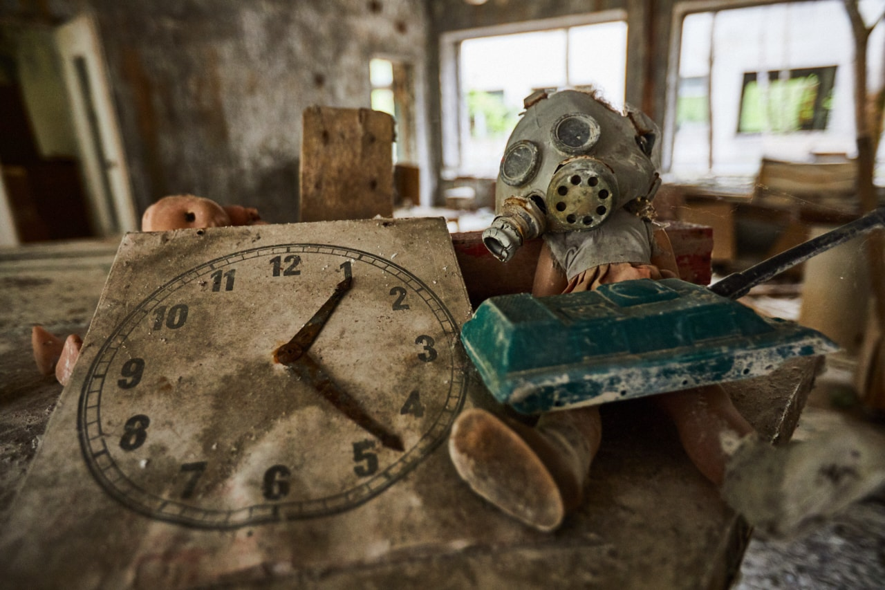 Abandoned kindergarten Chernobyl Exclusion Zone photo now