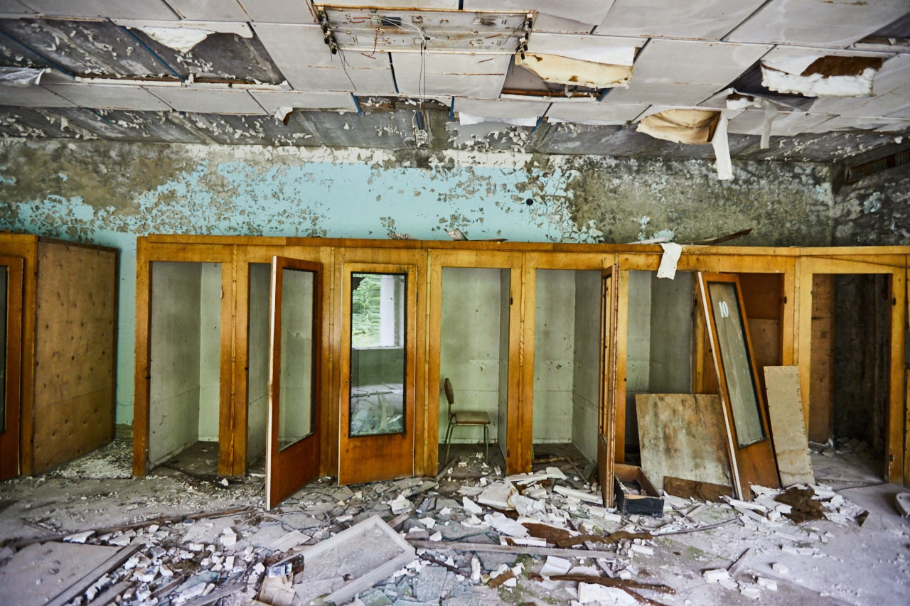 Abandoned post office pripyat