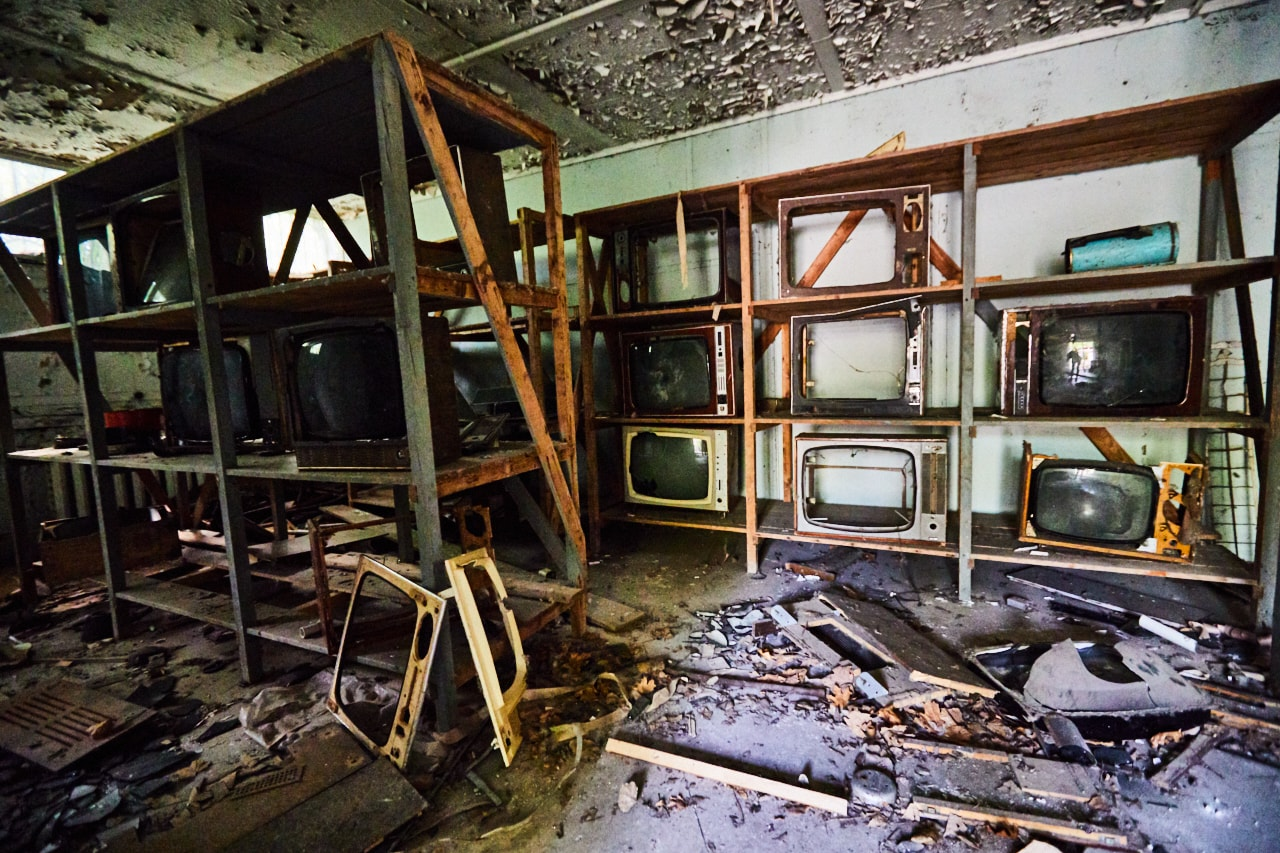 Magasin de TV de pripyat