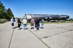 Missile R-12 soviet army base photo