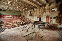 Arts school Pripyat photo abandoned piano