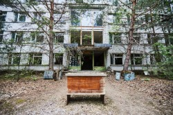 Police station Pripyat abandoned photo now