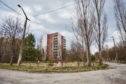 Boulevard of Lenin soviet Chernobyl photo now