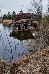 Chernobyl Exclsusion zone river port boat
