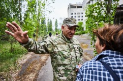 Exploring Chernobyl old streets pripyat photo