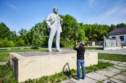 Monument of V.I.Lenin chernobyl photo now
