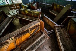 Piano shop in Pripyat abandoned now