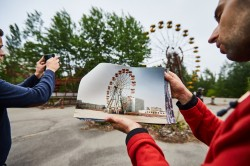 Pripyat Amusement park fairground photo abandoned Ferris Wheel