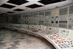Control room Chernobyl power plant