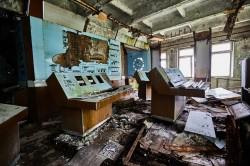 Command center of Duga soviet war cold now abandoned