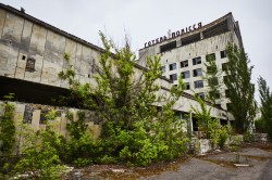 Hotel Polissya Chernobyl photo now Pripyat