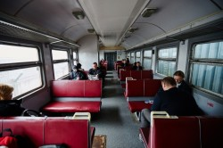 Train to Slavutych self-settlers photo now people